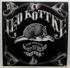 Leo Kottke 6 and 12 string guitar - There had to be one Kokkte album on this board. And what better than an album cover with an armadillo? Acoustic Guitar Strap, Acoustic Guitar Lessons, Guitar Songs, Acoustic Guitars, Guitar Chords, Lp Vinyl, Vinyl Records, Vinyl Art, 12 String Guitar