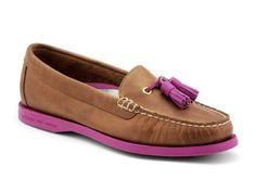 New Sperry Women's Eden Tassel Loafer Peanut/Berry 8 Sperry Top-Sider. Slip On. Tassel Detail. Leather Upper. Rubber Sole.  #Sperry_Top-Sider #Shoes