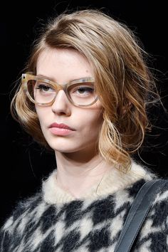 eed191b9281 Max Mara Cat Eye Opticals Fall 2015 - ELLE.com Winter Fashion 2015