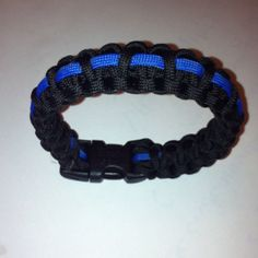 Thin blue line paracord bracelet I made this weekend.