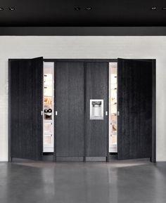 Kitchens - Piet Boon by WARENDORF - STOCKHOLM - Dark oak veneer combined with a 4mm brushed RVS worktop