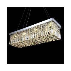 LEDペンダントライト K9クリスタル照明 天井照明 姫系照明器具 100*25cm