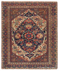 ARAB KHAMSEH, Southwest Persian, 4ft 9in x 5ft 9in, Circa 1850. This enthusiastic southern Persian tribal rug is the work of the Arab Khamseh. This is a tribal group less known than its neighbor, the Qashqai, but this best-of-the-best antique oriental carpet has all the characteristics to satisfy an art rug collector.