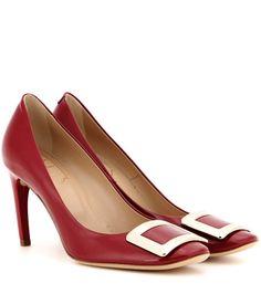 ROGER VIVIER | Belle De Nuit Lipstick Red Patent Leather Iconic Buckle  Pumps