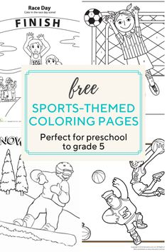 more than a hundred sports-related coloring pages your little sports fan will love.Access more than a hundred sports-related coloring pages your little sports fan will love. Sports Activities For Kids, Printable Activities For Kids, Worksheets For Kids, Free Printables, Toddler Activities, Sports Coloring Pages, School Coloring Pages, Reading Games For Kindergarten, School Resources