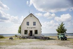 Bungenas, a remote peninsula on the tip of Gotland, has been transformed into a summertime playground, sporting a restaurant and a performance space. Places Around The World, The Places Youll Go, Places To Visit, Around The Worlds, Waterfront Restaurant, Sweden Travel, Draw On Photos, Small Buildings, Bushcraft