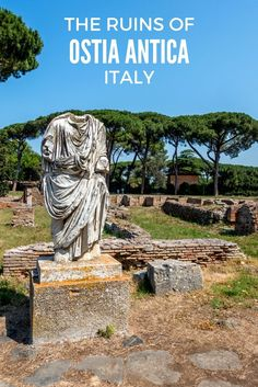 Less than an hour from the heart of Rome are the ruins of an ancient city preserved by nature--Ostia Antica, Italy.