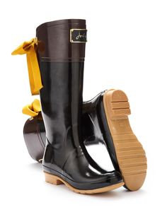 Two Tone Wellies with Ribbons