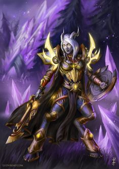 World of Warcraft: Lightforged Paladin by LudvikSKP on DeviantArt Draenei Female, Draenei Paladin, Wow Draenei, World Of Warcraft Game, Warcraft 3, Fantasy Rpg, Dark Fantasy, Fantasy Artwork, Dnd Races