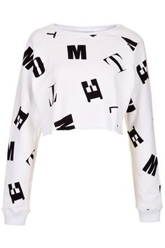 **Crop Sweater by Motel - Brands at Topshop - Jersey Tops  - Clothing