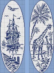 Sailing ship - giraffes
