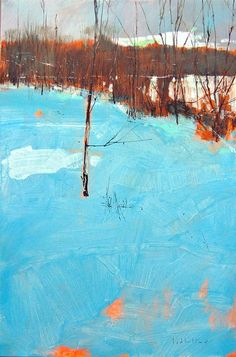 David Lidbetter. Great use of the orange under painting