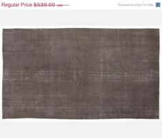 ON SALE 5 x 8,2 FT___154 x 250 Cm  Vintage Gray  handmade faded-distressed overdyed rug Free shipping (5597)