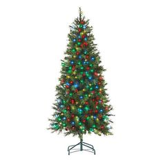 6' Pre-Lit Artificial LED Christmas Tree, Hard Needle with Dual-Color Lights at Big Lots.
