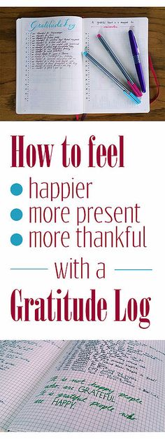 How to start a gratitude log!