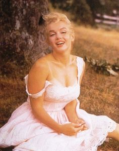 Angelic Marilyn Monroe.