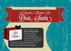 INFOGRAPHIC: Recycling tips for the holidays - Santa and his reindeer love it when people recycle!