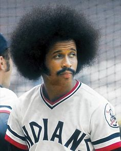 Article:Forget the Mullet, Time to Commemorate the Afro . # tight Braids meme Forget the Mullet, Time to Commemorate the Afro! Pro Baseball, Baseball Uniforms, Baseball Equipment, Baseball Games, Baseball Players, Funny Baseball, Baseball Stuff, Softball, Cleveland Team