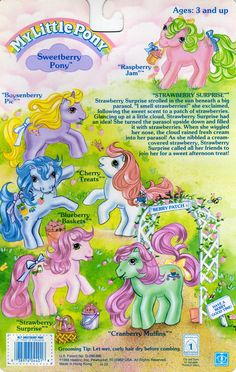 My Little Pony Sweetberry Pony Backcard