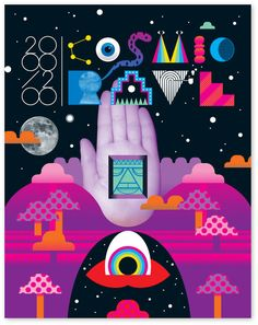 Cosmic Rave - Poster design for a cosmically themed celebration   by Craig and Karl