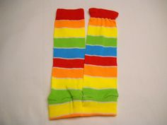 Small Rainbow Leg Warmers by Lucary on Etsy, $8.00