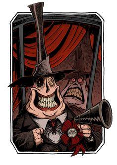 *MAYOR ~ Halloween Town - The Nightmare Before Christmas, by Boredman Arte Tim Burton, Tim Burton Style, Desenhos Tim Burton, Nightmare Before Christmas Drawings, Retro Poster, Jack And Sally, Vintage Horror, Halloween Town, Jack Skellington