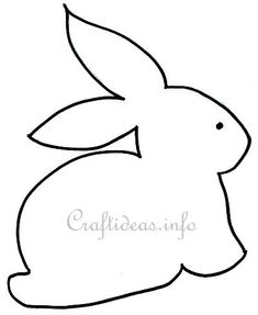 """Easter Crafts - Free Craft Pattern - """"Sitting Bunny"""""""