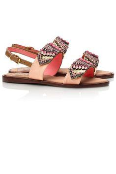 Tory Burch Tanner Flat Sandals, $395