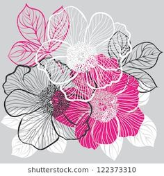 Decorative floral background with flowers of peony Surface Pattern Design, Pattern Art, Leather Embroidery, Bath Art, Blue Pottery, Pencil Art Drawings, Peony, Patterns In Nature, Fabric Painting