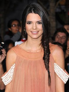 Kendall Jenner rocking an amazing fishtail braid