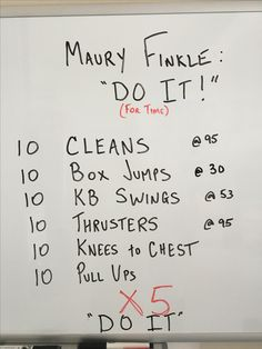 WOD from the Garage.