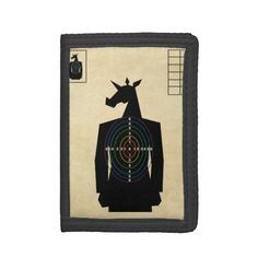 Shooting Target Unicorn Trifold Wallets