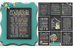 Teachers and chalkboards go hand in hand and now are available in the perfect prints for classroom decor & back-to-school gift giving. Our teacher approved and loved fine art prints are wonderful heartfelt gifts that your special teachers, coaches or mentors can display all year long. They work great for day care and pre-schools too!