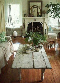 Living Room: Rustic Living Room Ideas For Inspiring . Top 50 Shabby Chic Round Dining Table And Chairs Home . 25 Shabby Chic Decorating Ideas To Brighten Up Home . Home and Family Shabby Chic Living Room, Shabby Chic Decor, Cottage Living, Shabby Cottage, Cottage Style, Cottage Chic, Rustic Cottage, French Cottage, Country Living