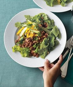 Asian Beef and Mango Salad Spice up ground beef with hot chili sauce ...