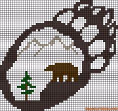Alpha friendship bracelet pattern added by bear paw mountains. Cross Stitch Charts, Cross Stitch Designs, Cross Stitch Patterns, Perler Patterns, Weaving Patterns, Bead Patterns, Crochet Cross, Crochet Bear, Cross Stitching