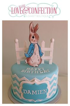 Peter rabbit cake designed and created by Veronica Arthur. All handmade gumpaste decorations. Peter Rabbit Cake, Peter Rabbit Birthday, 1st Birthday Parties, Birthday Cake, Christening Cake Boy, Cake Central, Cupcake Cookies, Cupcakes, Fondant Cakes