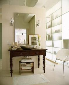 translucent wall for a windowless bathroom.