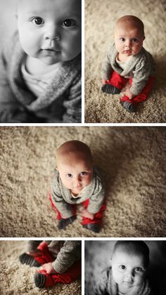 Luke 6 month photo ideas