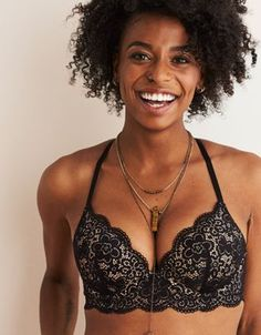 0ac109cea7000 Aerie Real Happy Plunge Push Up Bra by American Eagle Outfitters