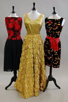 Lot: 1133: An interesting group of evening wear 1950s-60s, 8, Lot Number: 1133, Starting Bid: £100, Auctioneer: Kerry Taylor Auctions, Auction: Fashion & Textiles , Date: June 24th, 2008 CDT