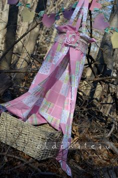 Fabric Canopy Photo Prop Easter or Spring Vintage by oldchateau
