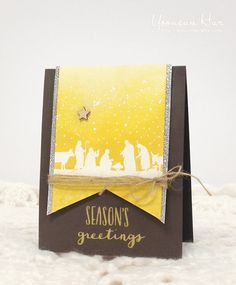 The Card Concept – Silent Night Neutrals Stamped Christmas Cards, Silent Night, Happy Wednesday, Card Maker, Hero Arts, Cool Cards, I Card, Nativity, Neutral