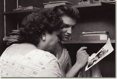 Elvis with his Mother : Memphis - 1034 Audubon Drive - July 4, 1956.