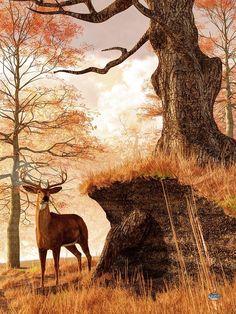 Autumn Buck by Daniel Eskridge, via fineartamerica.com