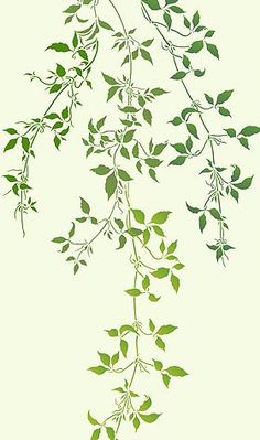 Leaf Stencils Trailing Leaves Stencil Clematis Vines