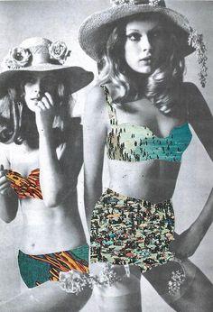 The bikini reinterpreted through #collage #artsyfartsy