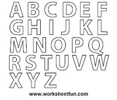 the letter i printables | ... to Z - Worksheet 1 - Letters Coloring ...