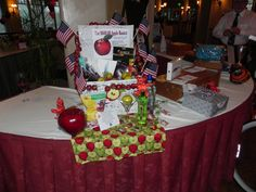 $600.00 Apple Basket filled with Apple Products starting with the Mini iPad and all accessories, Apple Martini, Apple Candy and much more.  Auctioned off for $750.00 at our BEAR Chinese Auction june 2013.