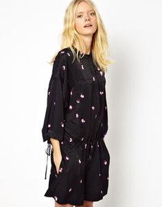 See by Chloe Playsuit with Full Sleeved in Spaced Out Flower Print